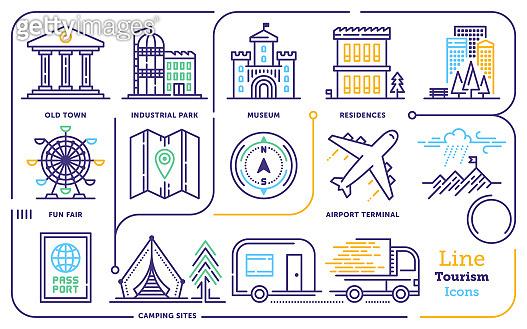 Travel & Tourism Line Icon Set