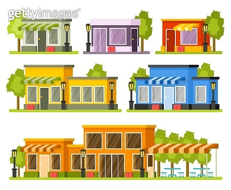 Shops and stores buildings