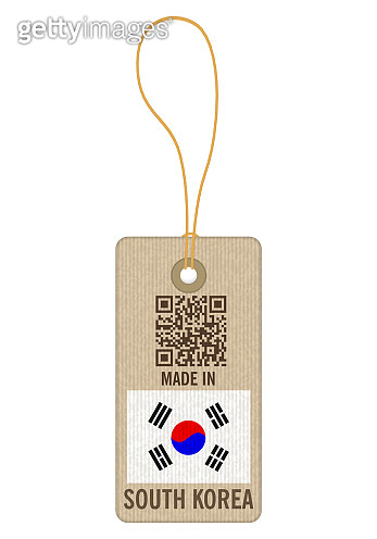 Tag made in South Korea
