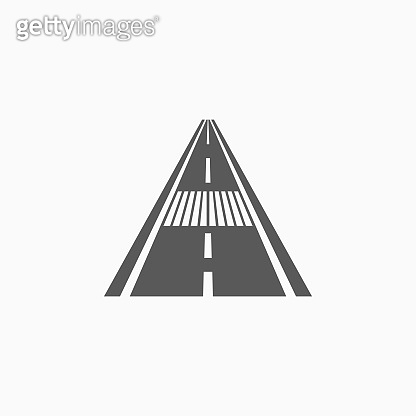 road with crosswalk icon
