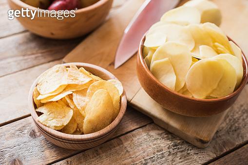 Potato chips, close-up