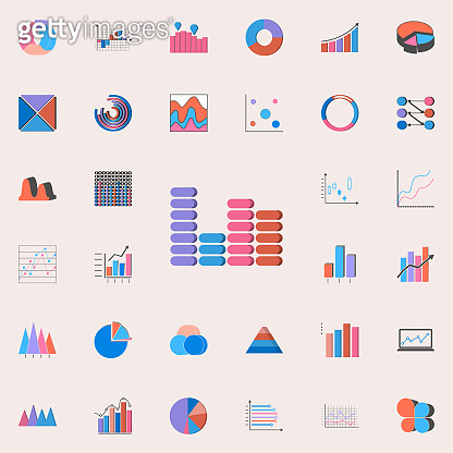 bar chart icon. Charts & Diagramms icons universal set for web and mobile