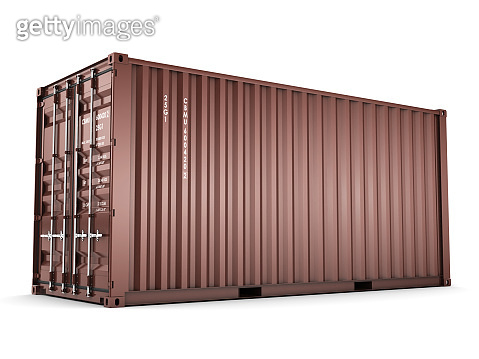 3D rendering Isolated cargo container