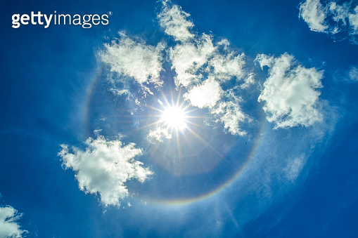 Rainbow of happiness, halo phenomenon
