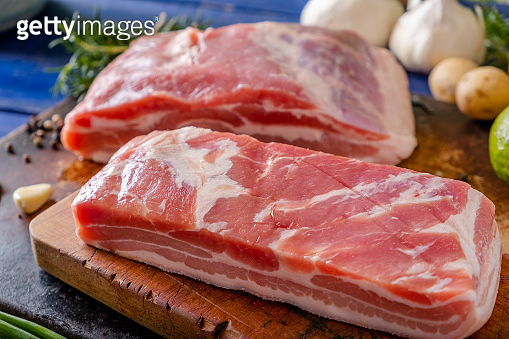 Raw Pork Belly in Whole with Skin