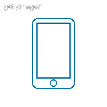 Mobile telephony linear icon concept. Mobile telephony line vector sign, symbol, illustration.
