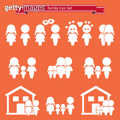 Family and people vector icons