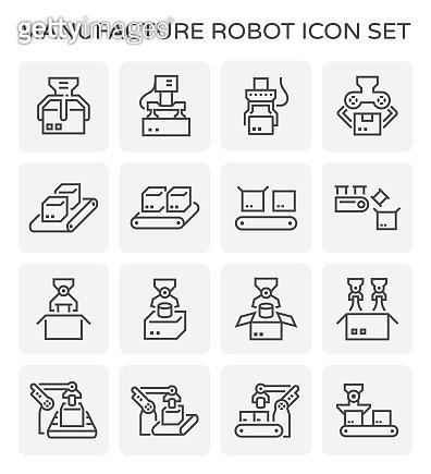 robot and box icon