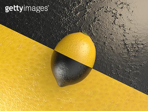Minimalism - Contrast Concept With Lemon
