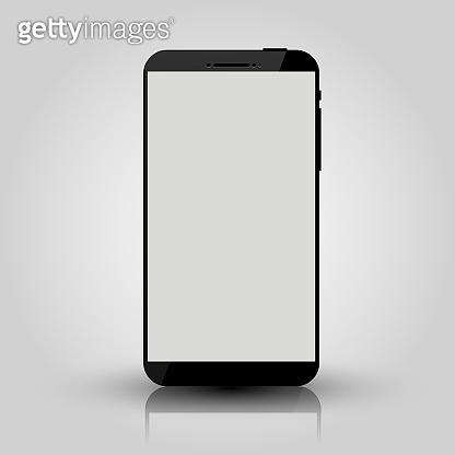 Black mobile smart phone mock up. Game design, smartphone mobile application presentation or portfolio mockups.
