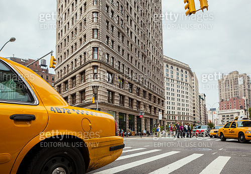 Yellow Taxis on Broadway, New York