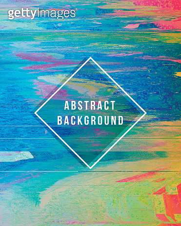 Digital Glitch Abstract Multi Color Grunge Background