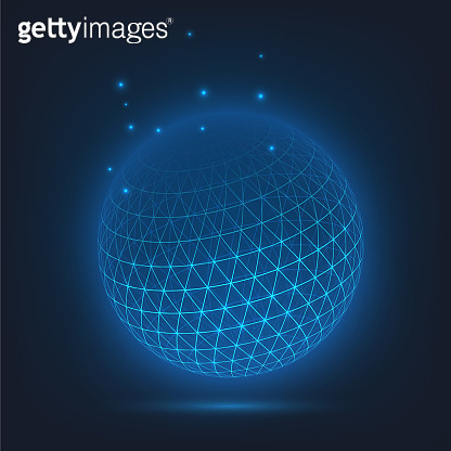 Structural glowing sphere