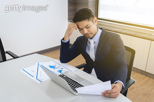 Businessman stressed and exhausted