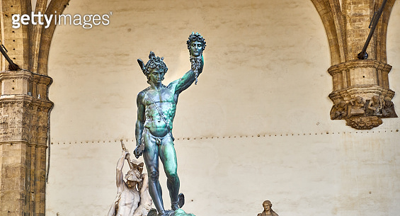 'Perseus with the Head of Medusa' / bronze sculpture in Florence