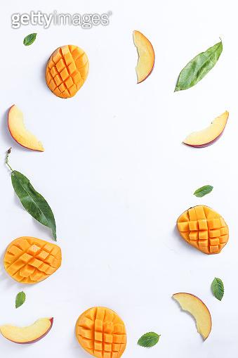 mango and peach background