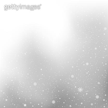 winter snow gray background