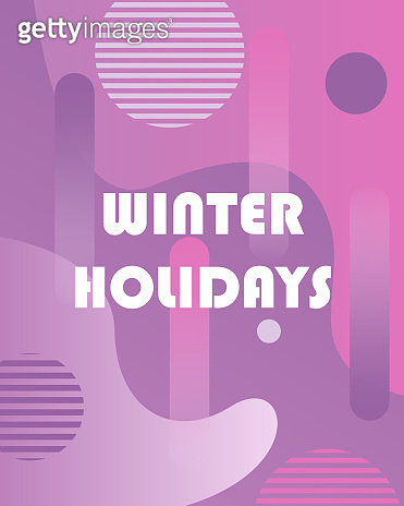 Winter background with gradients,shapes and geometric elements in  style. Abstract posters perfect for prints,flyers,banners,invitations,special offer and more.