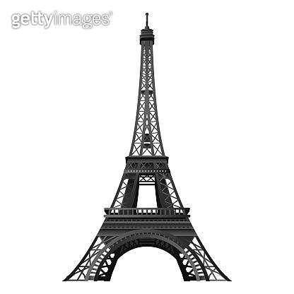 Eiffel tower symbol vector illustration – stock vector
