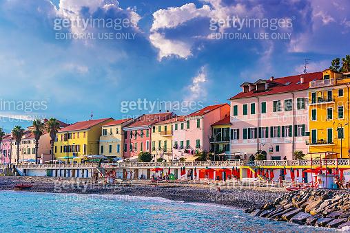Architecture of Porto Maurizio, Liguria, Italy