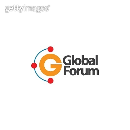 Global Forum Logo Vector Template Design Illustration