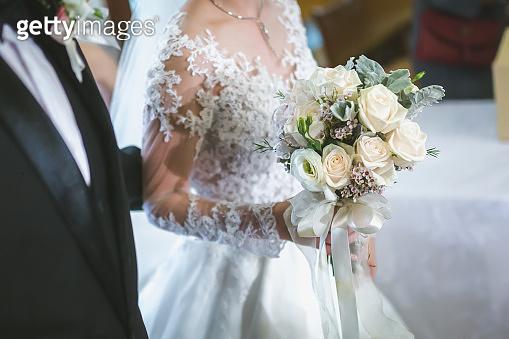 Beautiful bouquet wedding bride wed young adult wedding design.