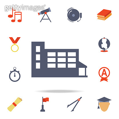 school colored icon. Detailed set of colored education icons. Premium graphic design. One of the collection icons for websites, web design, mobile app