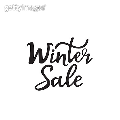 Winter sale hand lettering design for advertising poster, banner, discount.