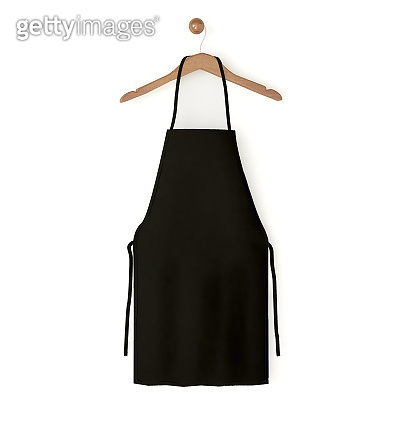 black isolated apron