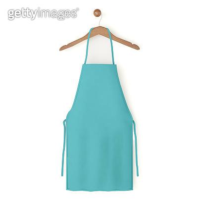 blue isolated apron