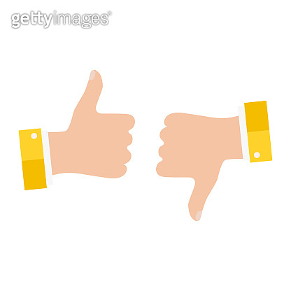 Open empty hands showing different gestures. Hands icon isolated on white background. Vector illustration
