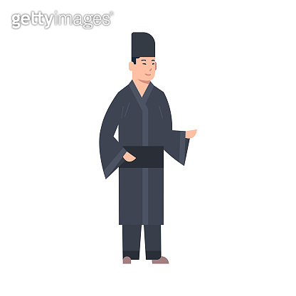6e79ad33ac2f9 Korea Traditional Clothes Man Wearing Ancient Costume Isolated Asian Dress  Concept