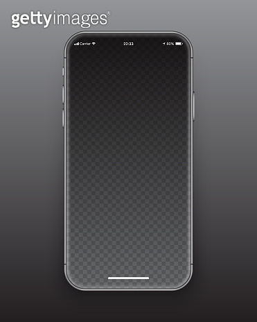 Frameless Smartphone Screen Vector Mockup