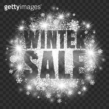 Winter Sale Illustration on Transparent Background Vector
