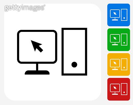 Simple Desktop Computer Icon