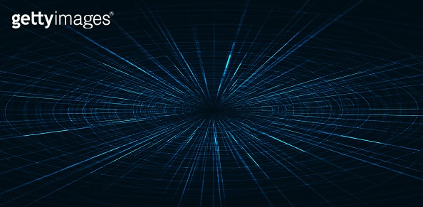 Hyperspace speed motion on future Technology background,warp and expanding movement concept,vector Illustration.