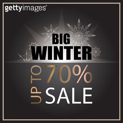 Sale banner template design. Sale poster of black Friday. Big winter sale discount. Graphic poster, geometric brochure, Christmas cards. sale inscription design elements. Vector
