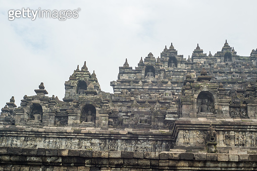 Borobudur temple at sunrise, Central Java, Indonesia