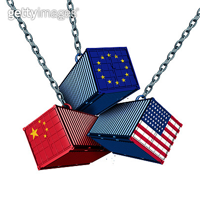 Chinese European And American Tariff War
