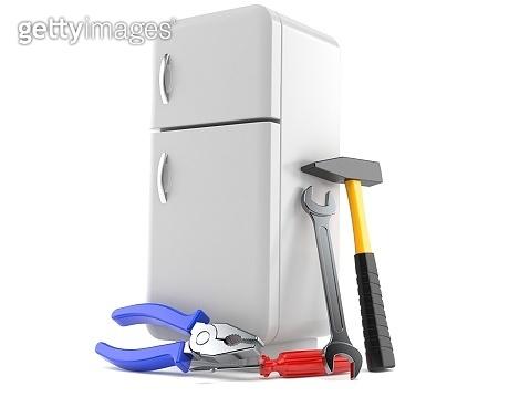 Fridge with work tools
