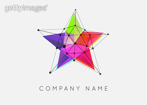 Geometric Shapes Unusual and Abstract Vector Sign. Polygonal Colorful Emblems.