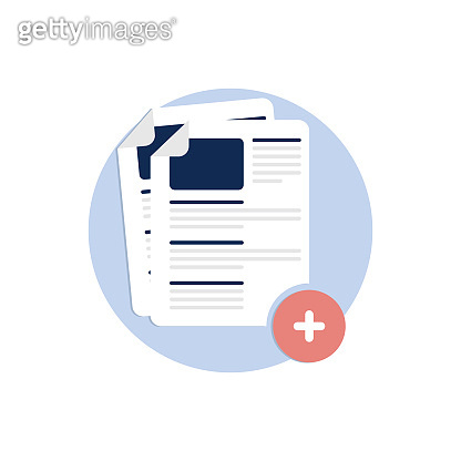 add files, Add new document icon, Blank, Computer Graphic, Data, Downloading icon, Storage, Folder with Documents, Portfolio or Database, vector icon, file management icon, flat color