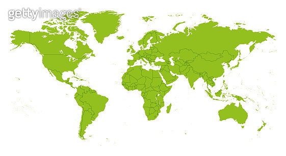 World Map Seperate Countries