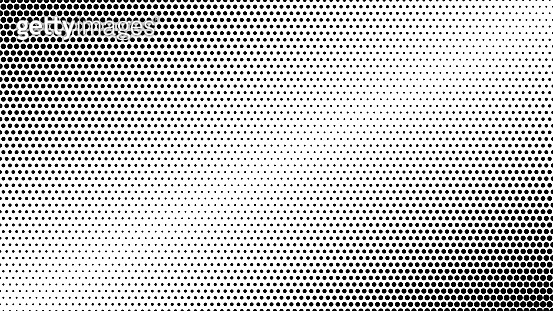 Abstract black dotted and gradiented background