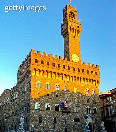 Palazzo Vecchio at piazza Della Signoria, Florence Italy.