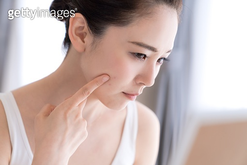 Beauty concept of asian girl. Skin care.