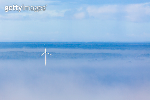 Wind turbine i fog