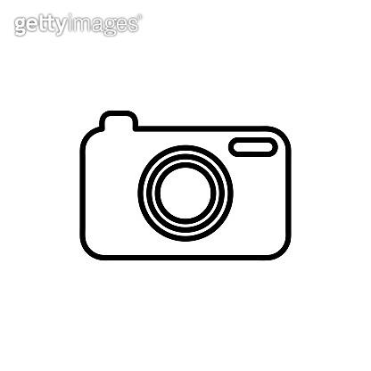 Flat Line Vector Camera Icon