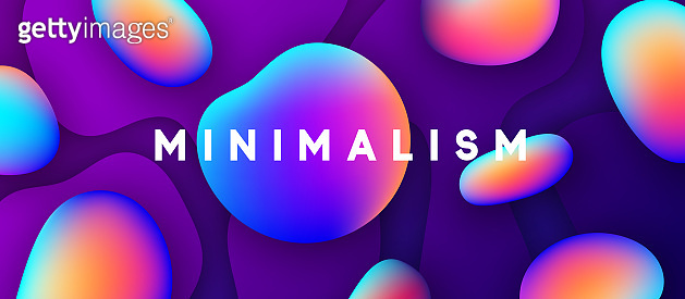 Minimal abstract design shapes fluid colorful gradients.