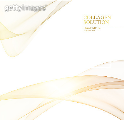 Science illustration of a cream flow. Regenerate face cream and Vitamin complex concept. Organic cosmetic and skin care solution. Beauty skin care design over gray background.